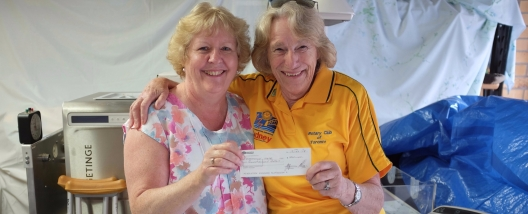 Thank you Maureen for the $1,000 cheque from the Toronto Rotary club