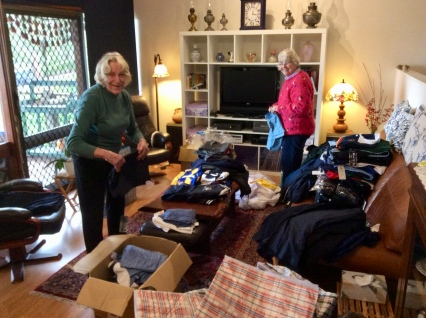 more sorting and packing