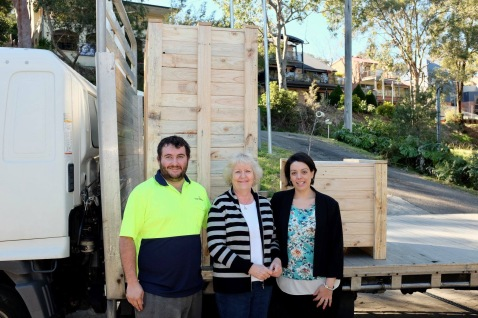 wooden crates made and donated by Hunter Valley Pallets - to protect our precious medical equipment